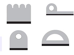 Sponge Rubber Seals with Adhesive Backing