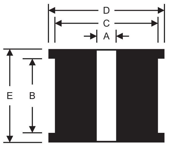 Plain Bore Square Shoulders Grommets product image