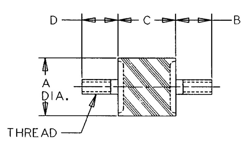 Sandwich Mounts (UNC Thread) Type 1 product image