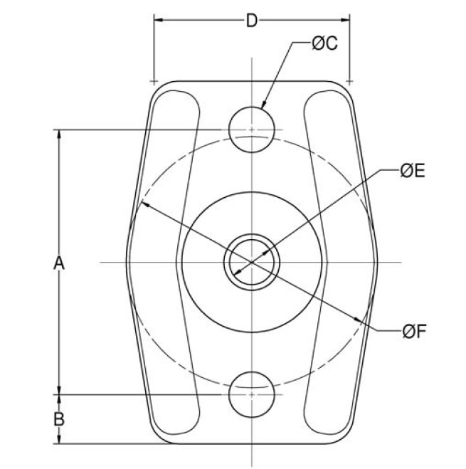 Center Bonded Mounts - CBA-50 Series product image