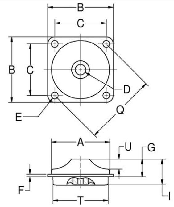 Heavy-Duty Plateform Mounts (Square) product image